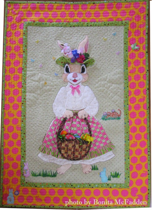 Easter Bunny quilt by Bonita McFadden, photo by Bonita for Quilt Inspiration (1)