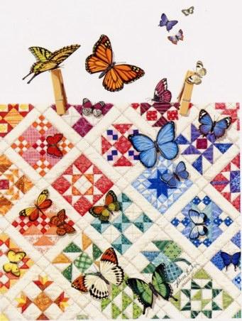 Πεταλούδες πάνω σε τετράγωνα 9 στοιχείων